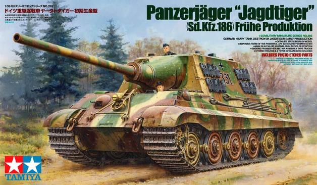 """Tamiya German Panzerjager Sd.Kfz. 186 """"Jagdtiger"""" Early Version 1/35 Model Kit"""