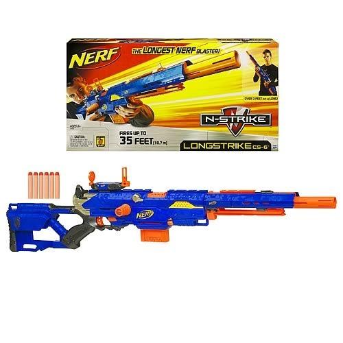 item 6 Nerf Longstrike CS-6 sniper rifle & sight + tactical vest, gun  strap, 80 darts -Nerf Longstrike CS-6 sniper rifle & sight + tactical vest,  gun strap, ...