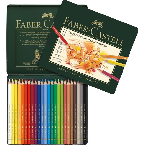 Faber-Castell: Polychromos Artist Colouring Pencils (Tin of 24) image