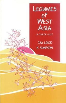 Legumes of West Asia by J.M. Lock image