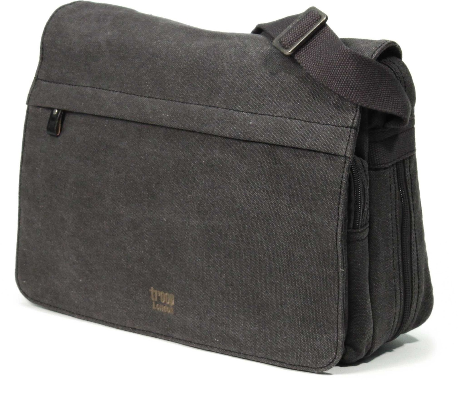Troop London: Classic Flap Front Messenger Bag - Black image