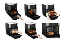 Kogan: 12L 1800W Digital Air Fryer Oven (Stainless Steel)