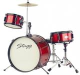"""Stagg 3pc Junior Drum Set 16"""" (Red)"""