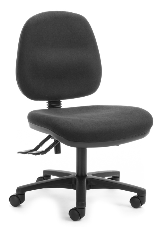 Chair Solutions: Mid Back Task Chair Alpha 2 Lever - Black