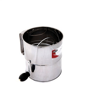 Stainless Steel 5 Cup Crank Action Flour Sifter