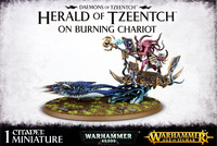 Warhammer Tzeentch Daemons: Herald of Tzeentch on Burning Chariot