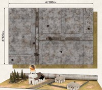 Flames of War: Rural/City - Doublesided Gaming Mat (4 x 6)