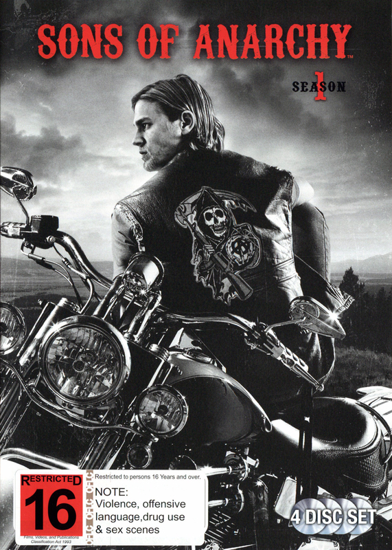 sons of anarchy dvds seasons 1 4