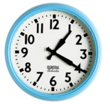 General Eclectic Retro School Clock (Turquoise)