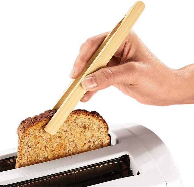 Bamboo Toast Tongs With Magnet At Mighty Ape Nz