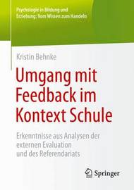 Umgang Mit Feedback Im Kontext Schule by Kristin Behnke