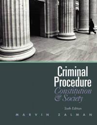 Criminal Procedure by Marvin Zalman image