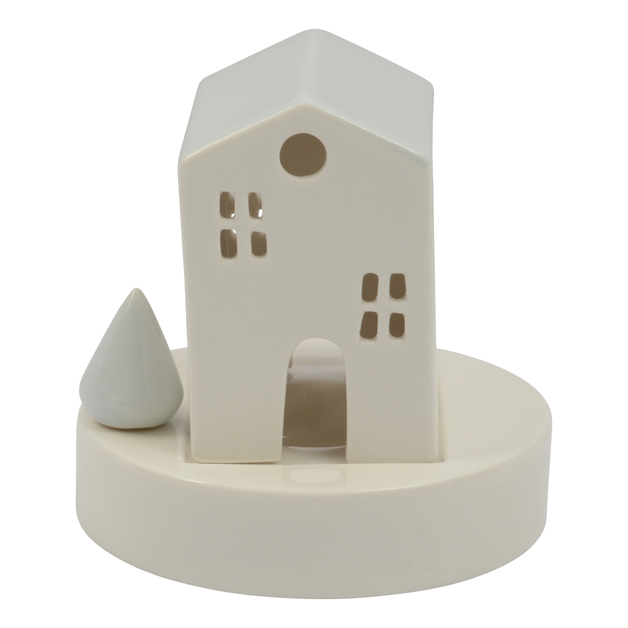 Ceramic Tealight Holder - House (Removable)