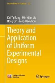 Theory and Application of Uniform Experimental Designs by Kai-Tai Fang image