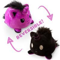 TeeTurtle: Reversible Mini Plush - Unicorn (Purple/Black)