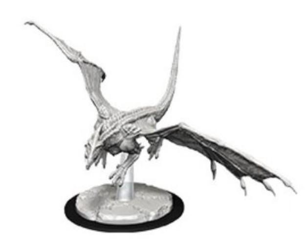 D&D Nolzur's Marvelous: Unpainted Miniatures - Young White Dragon