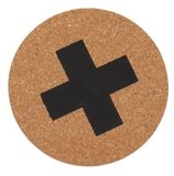 General Eclectic - Cork Coaster - Cross