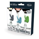 Social Climbers - Sloth Wine Markers (Set of 6)