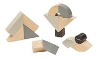 PlanToys: Twisted Blocks Set - Monochrome
