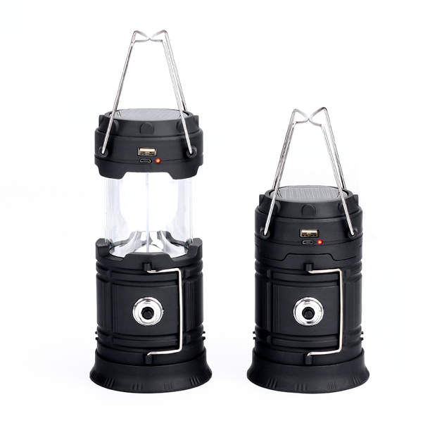 Outdoor Collapsible Portable LED Solar Charging Camping Lantern with USB