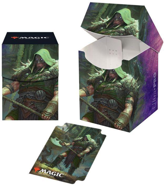 Ultra Pro: Magic The Gathering Deck Box PRO 100+ Throne of Eldraine Garruk, Cursed Huntsman