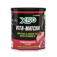 X50: Vita-Matcha Green Tea - Pomegranate (50 Serves)