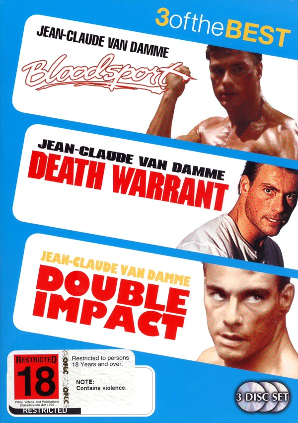 Bloodsport / Double Impact / Death Warrant (3 Disc Set) on DVD image