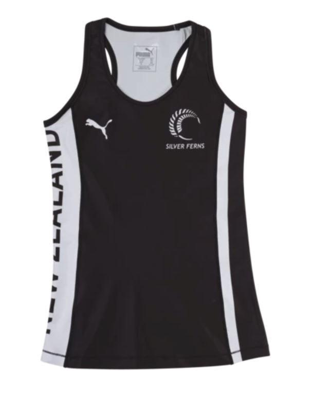 Puma Silver Ferns Youth Training Singlet Black/White (176)