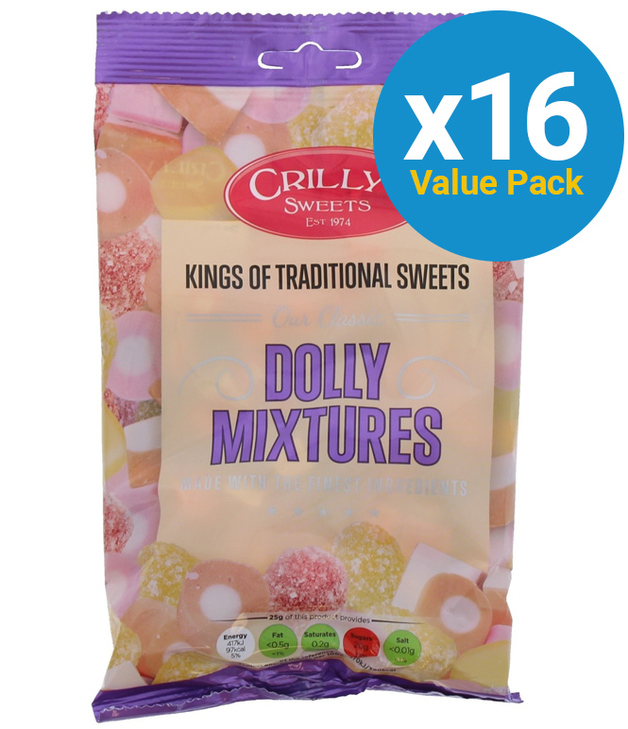 Crillys: Dolly Mixtures 150g (16 Pack)