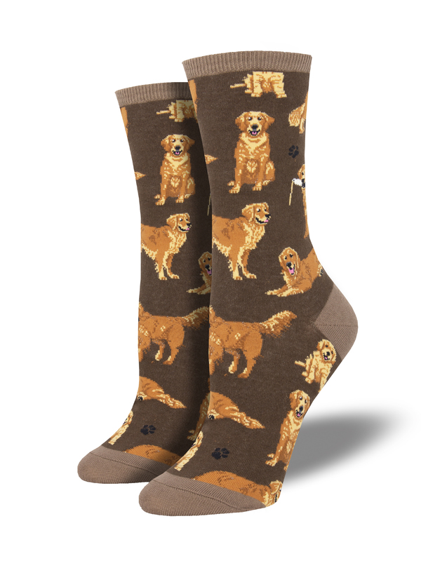 Socksmith: Golden Retrievers-Brown