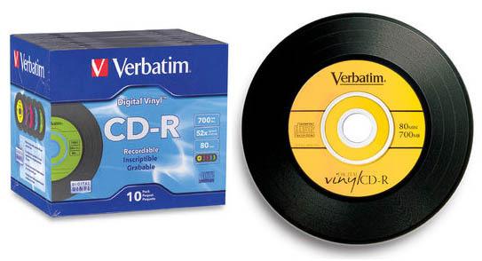 Verbatim CD-R 700MB 10Pk Vinyl Jewel Case 52x image