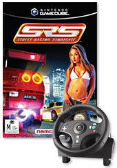 Street Racing Syndicate + Logitech Speedforce Wheel for GameCube