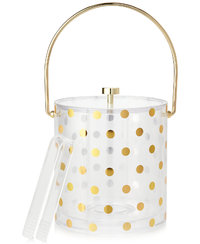 Kate Spade Acrylic Ice Bucket (Gold Dots)
