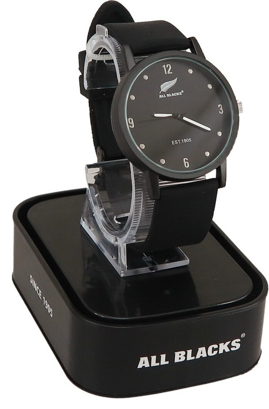 All Blacks Watch - Black face/Black Silicon Strap