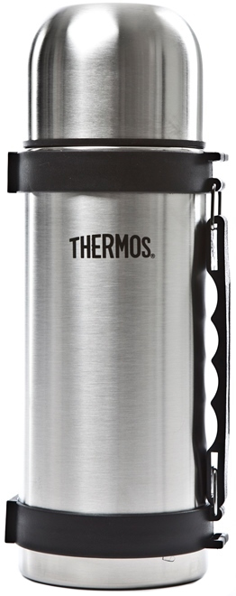 Thermos: Stainless Steel Flask - Silver (1L) image
