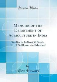 Memoirs of the Department of Agriculture in India by Albert Howard image