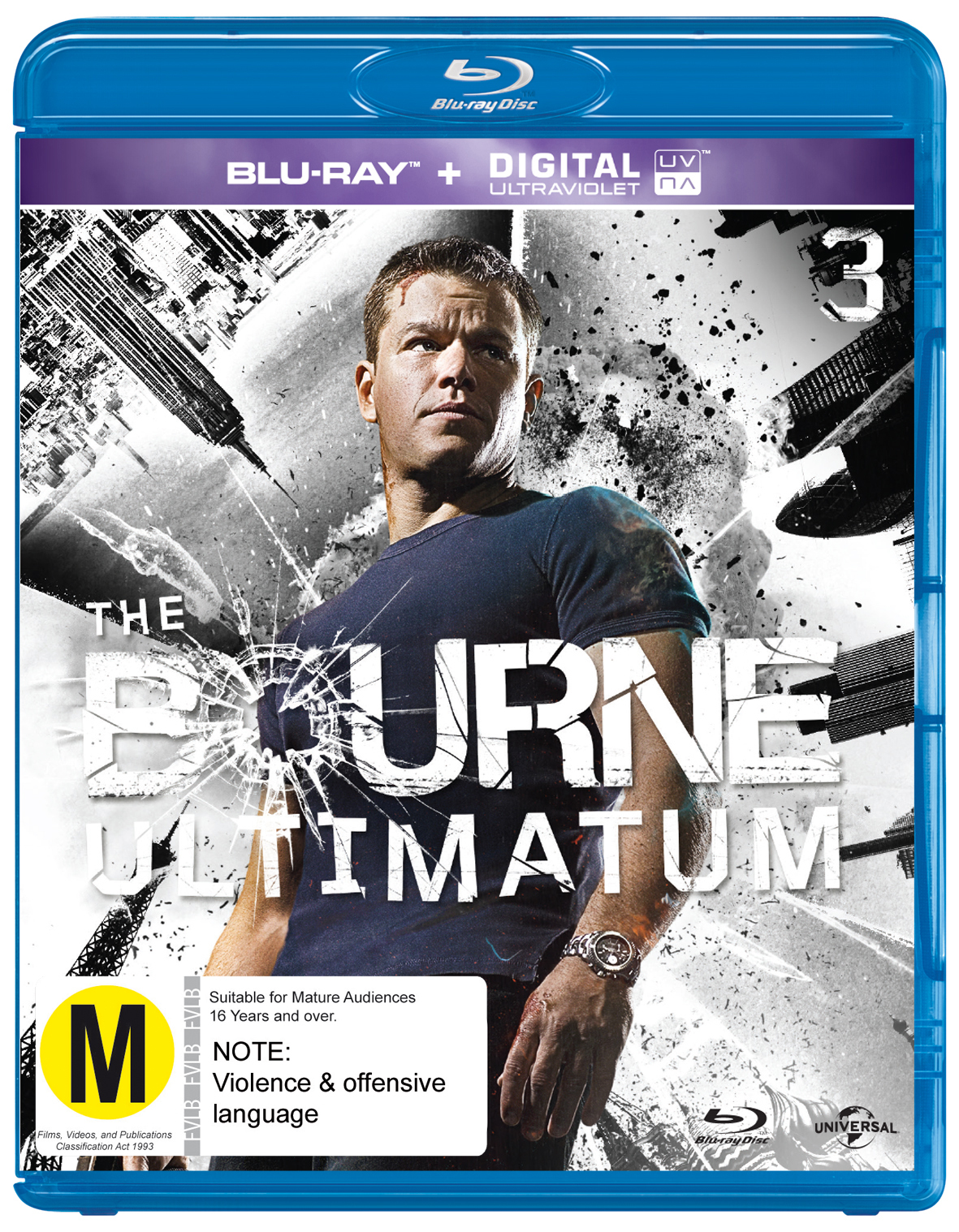 The Bourne Ultimatum on Blu-ray, UV image