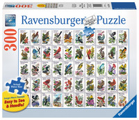 Ravensburger: 50 Bird Stamps - 300pc Puzzle