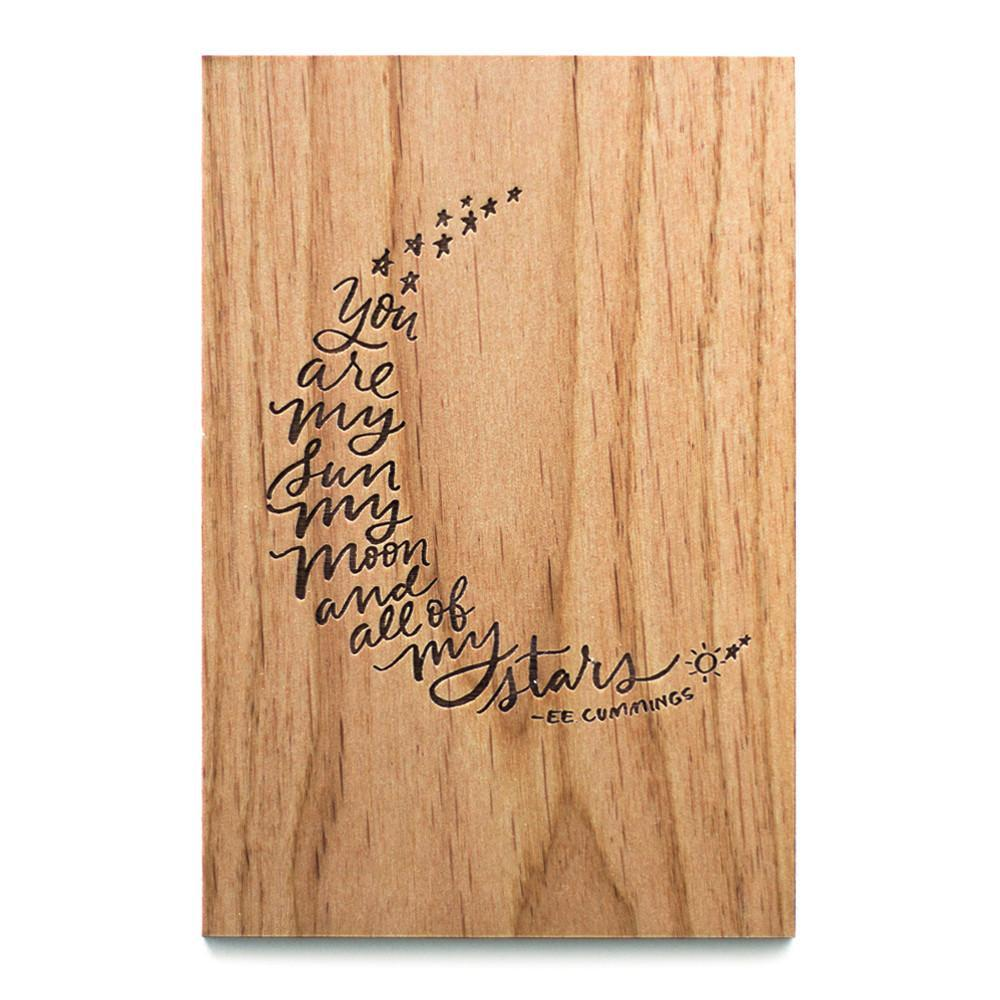 Cardtorial Wooden Card - My Sun, Moon, & Stars image