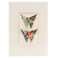 Short Story: Twin Butterfly Greeting Card - Blossom Green