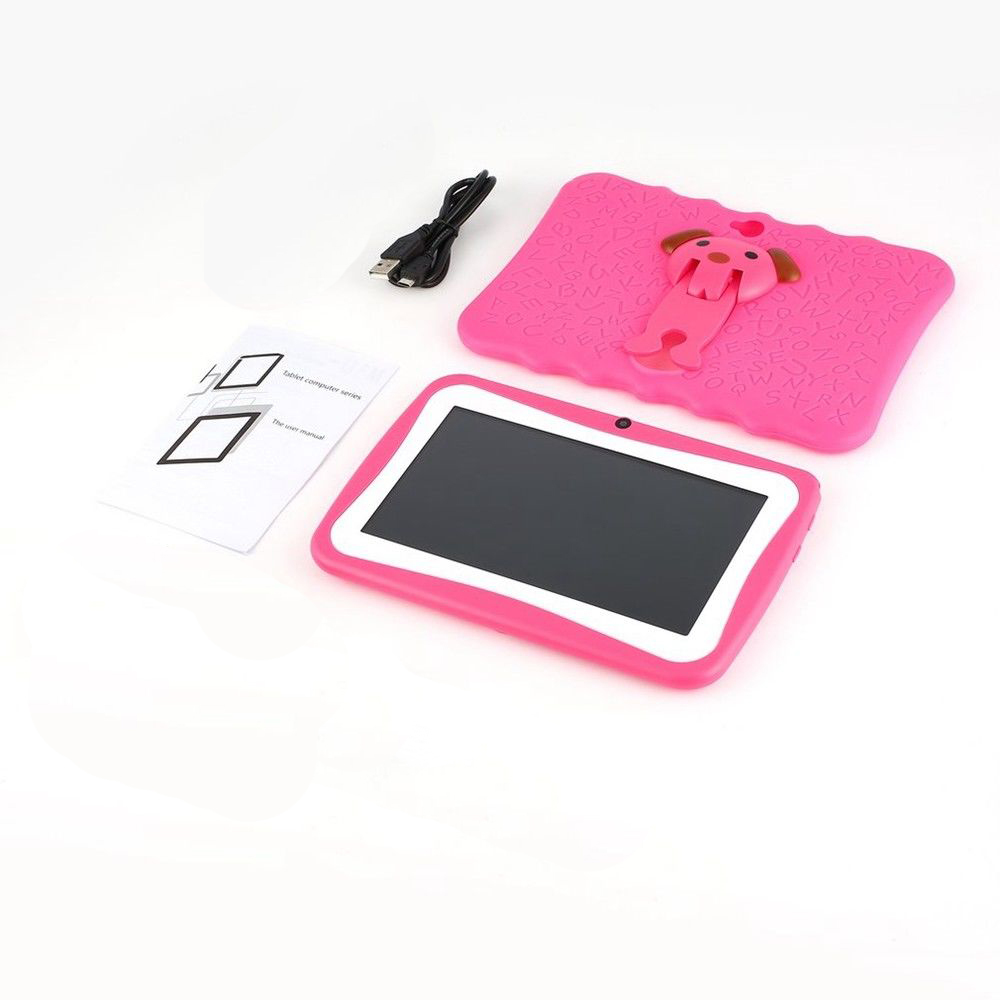 Kids 7-Inch Android Tablet with Protective Case - Pink image