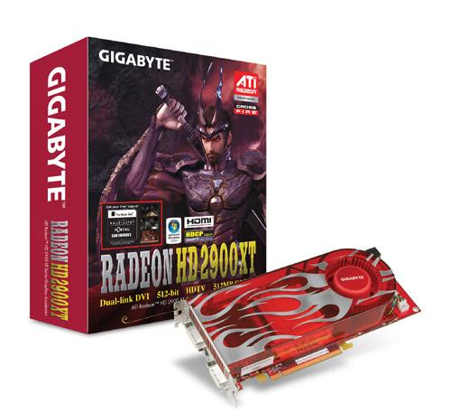 GIGABYTE GV-RX29T512VH-B Radeon HD 2900XT PCI-EX16