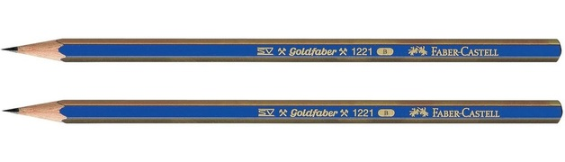 Faber-Castell: Goldfaber Graphite Pencil B - 2 Pack
