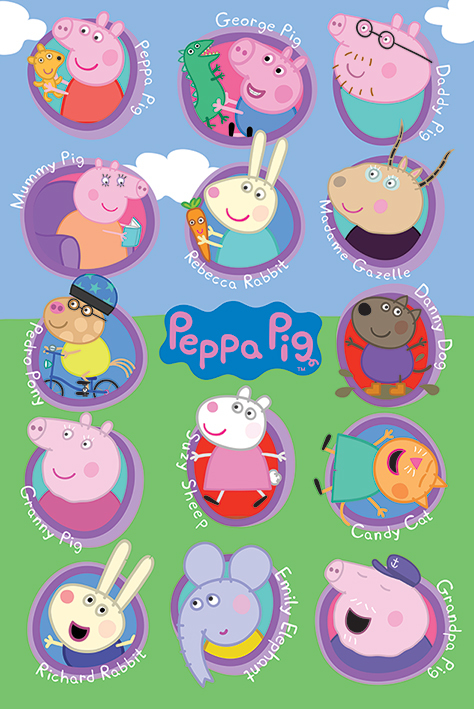 Peppa Pig - Multi Characters Maxi Poster (575)