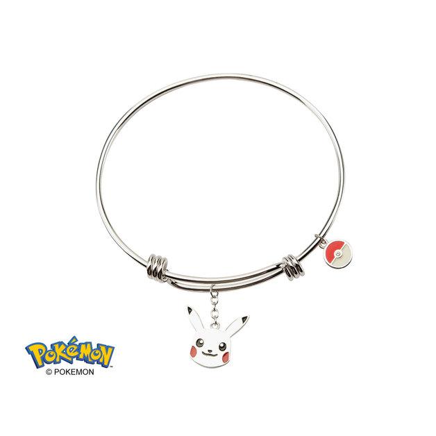 Pokemon Pikachu Expandable Silver Bracelet