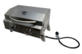 Portable Stainless Steel BBQ - 2 Burner Barbecue with Hotplate & Grill
