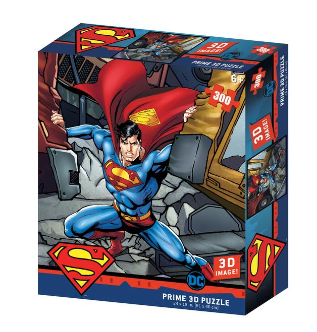 Super 3D: 300pc DC Comic Puzzle - Superman Hero Pose
