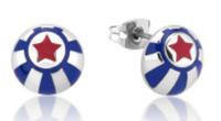 Disney: Dumbo Circus Ball Stud Earrings - White Gold