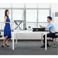 Gorilla Office: Ergonomic Deskalator White (700 x 480mm) Height Adjustable Workstation
