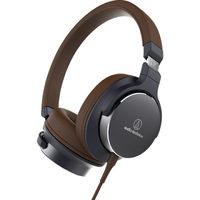 Audio-Technica ATHSR5 On Ear Hi-Res Audio Headphones (Brown)